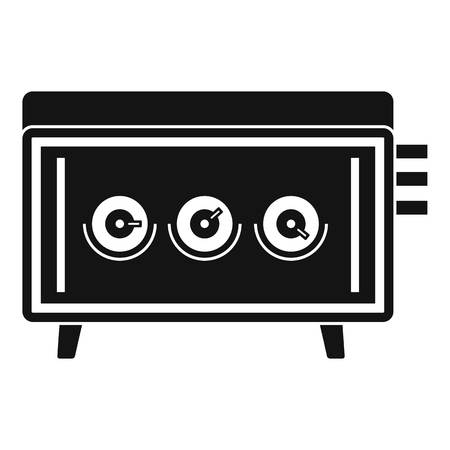 portable console: CD changer icon. Simple illustration of CD changer vector icon for web Illustration