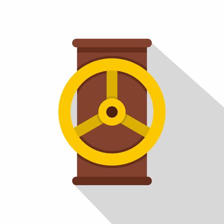 Valve icon, flat style