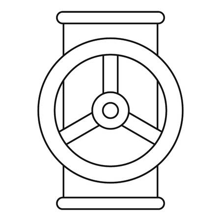 sewer: Valve icon, outline style