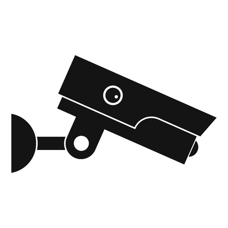 monitored: Security camera icon, simple style
