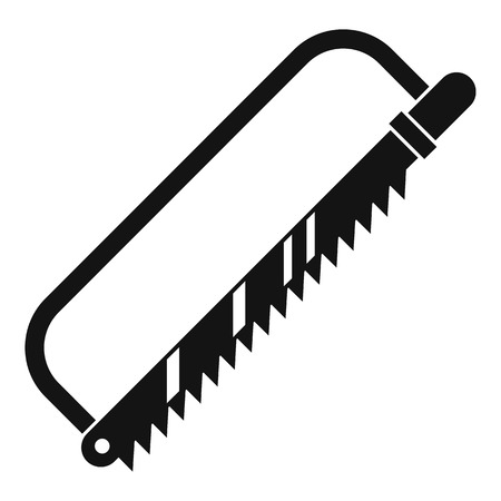 amputation: Sergical saw icon, simple style