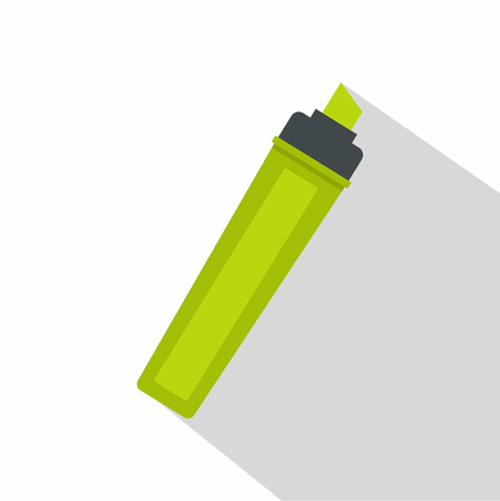 highlighter pen: Marker icon, flat style
