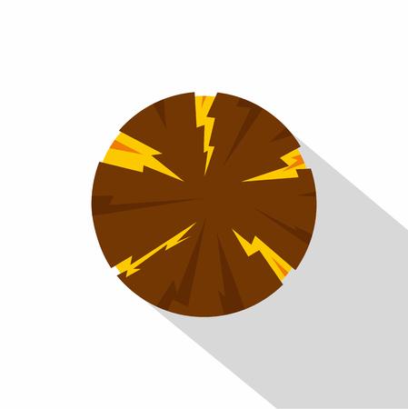 dangerous: Dangerous planet icon, flat style Illustration