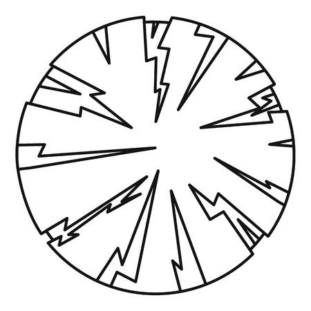 dangerous: Dangerous planet icon, outline style