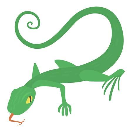 Lizard icon, cartoon style Illustration