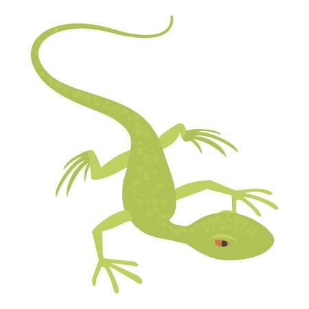 salamandre: Petite icône de lézard, style de bande dessinée