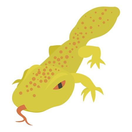 Icono de lagarto manchado, estilo de dibujos animados