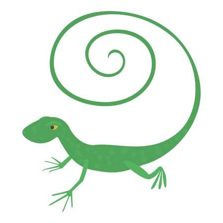 Fast lizard icon, cartoon style Illustration
