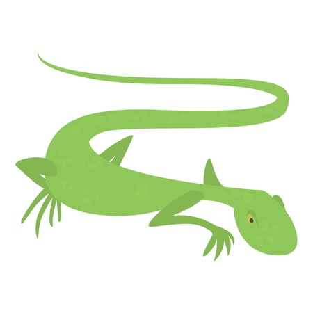 Brisk lizard icon, cartoon style Illustration