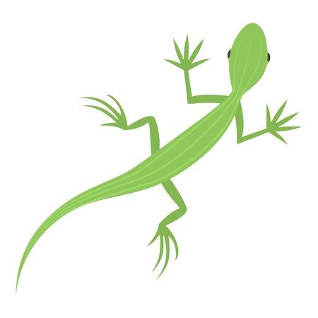 Salamander icon, cartoon style