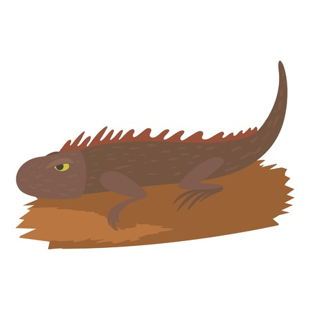 Iguana icon, cartoon style