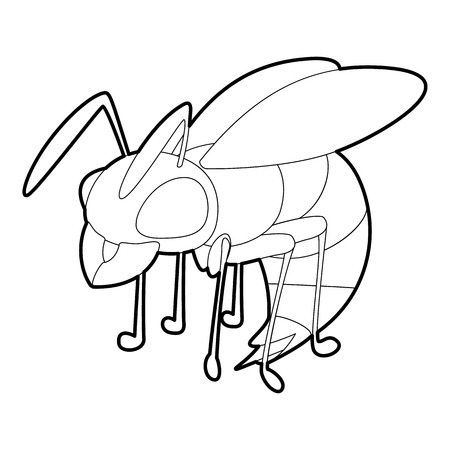 Wasp icon, outline style