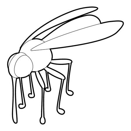Mosquito icon, outline style
