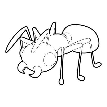 chitin: Ant icon, outline style Illustration