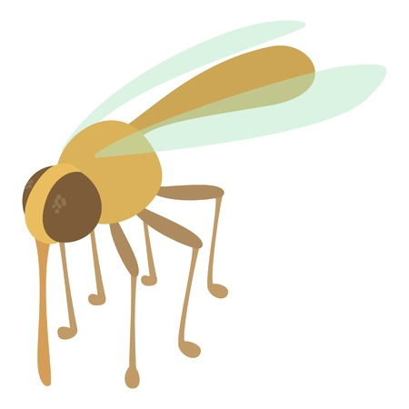 Mosquito icon, cartoon style Illustration