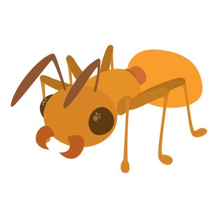 Ant icon, cartoon style Illustration