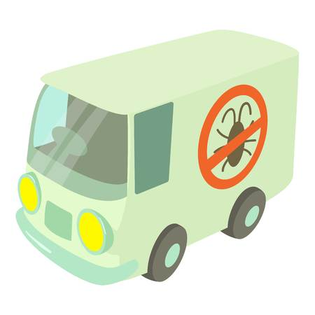 disinfection: Disinfection car icon, cartoon style