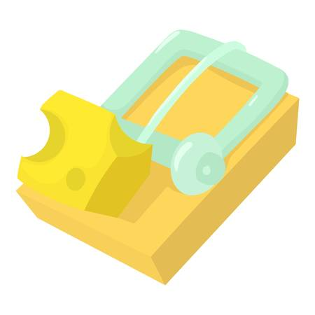 Mousetrap icon, cartoon style