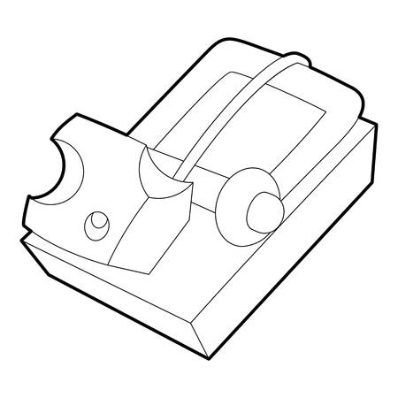 Mousetrap icon, outline style