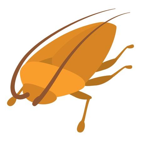 Cockroach icon, cartoon style