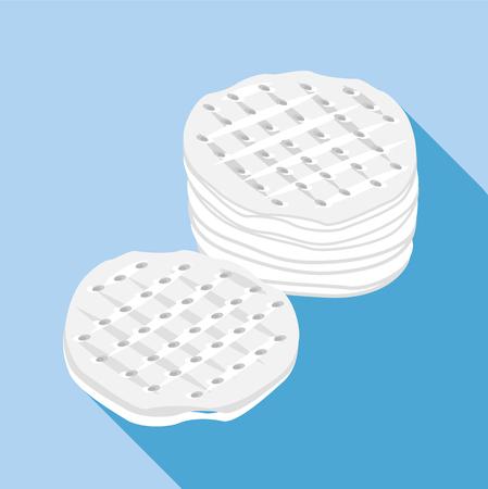 Cotton discs icon, flat style