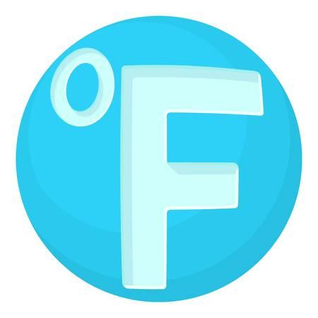 fahrenheit: Fahrenheit icon, cartoon style Illustration