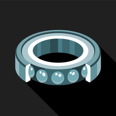 Bearing icon, flat style Illustration