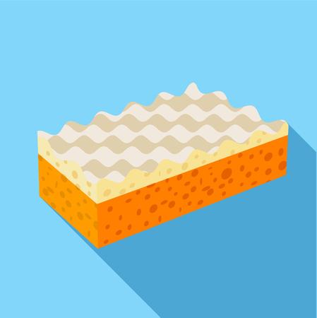 antiseptic: Sponge icon, flat style