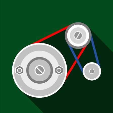 Mechanic belt icon, flat style Illustration
