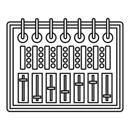Icône d'équipement d'enregistrement sonore. Illustration de contour de l'icône de vecteur d'enregistrement son studio pour le web