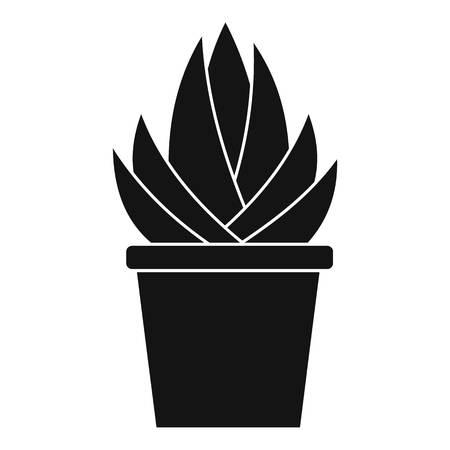 aloe vera plant: Aloe vera plant icon. Simple illustration of aloe vera plantvector icon for web Illustration