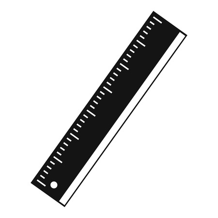 Yardstick icon, simple style