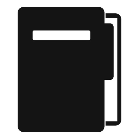 File folder icon, simple style