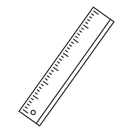 Ruler icon. Outline illustration of ruler vector icon for web Иллюстрация