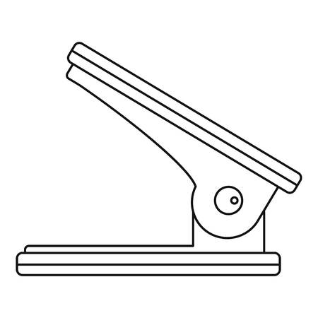 hole puncher: Hole puncher icon. Outline illustration of hole puncher vector icon for web