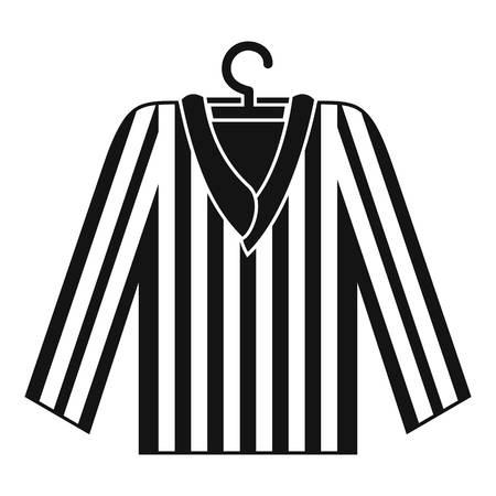 Striped pajama shirt icon, simple style