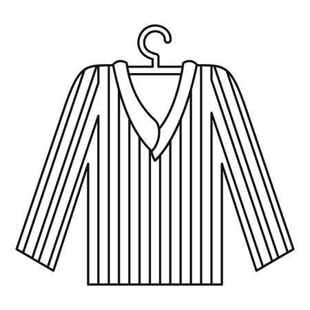 Pajama shirt icon, outline style