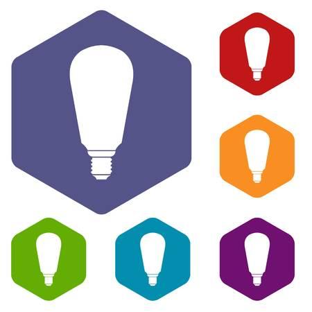 Light bulb icons set Illustration