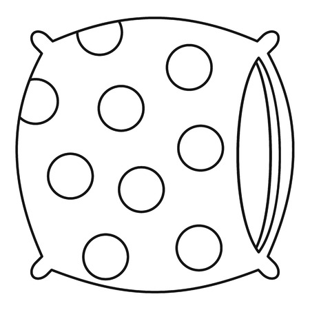 headboard: Pillow icon, outline style