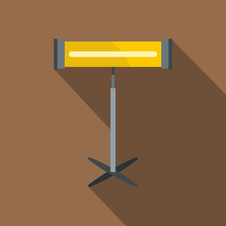 warmness: Home heating appliance icon, flat style Illustration