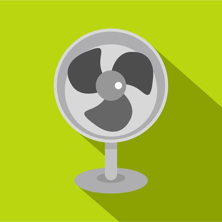 Retro electric fan icon, flat style Illustration