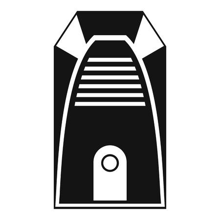 Elektrische Heizlüfter Solide Symbol, Haushalt Und Gerät, Ein ...