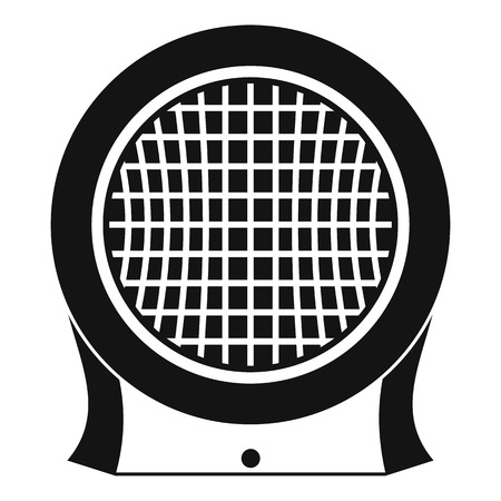 Electric heater icon, simple style Illustration