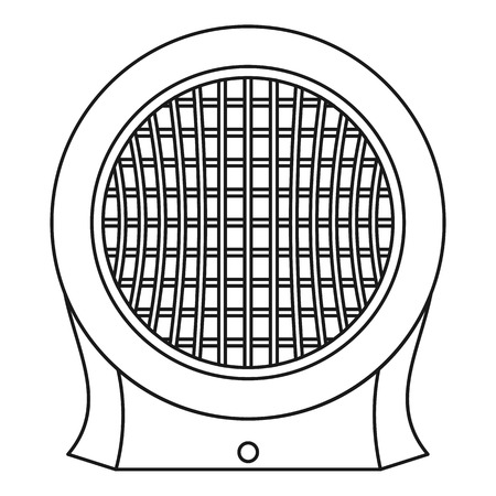 Heater icon, outline style