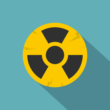 nuke plant: Nuclear sign icon, flat style