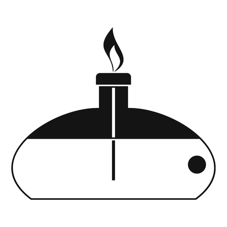 Spiritlamp icon, simple style Illustration
