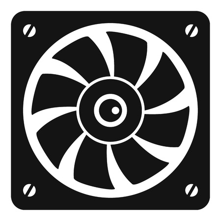 Computer fan icon, simple style