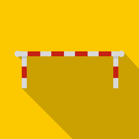 Striped barrier icon, flat style