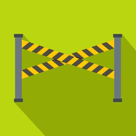 Police line icon, flat style Illustration