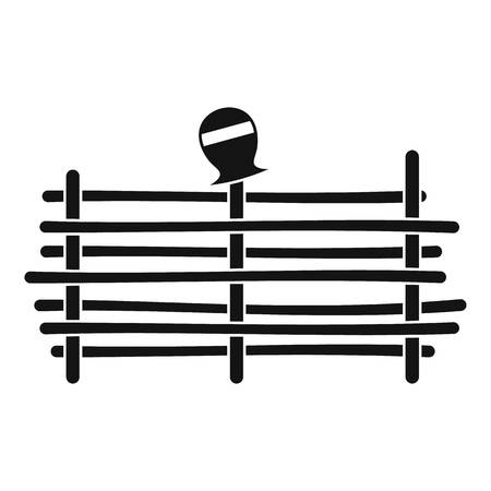 Palisade icon, simple style